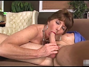 Mature woman sucking off young guys