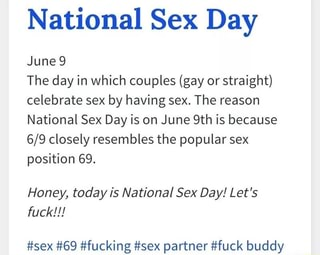 National sex day