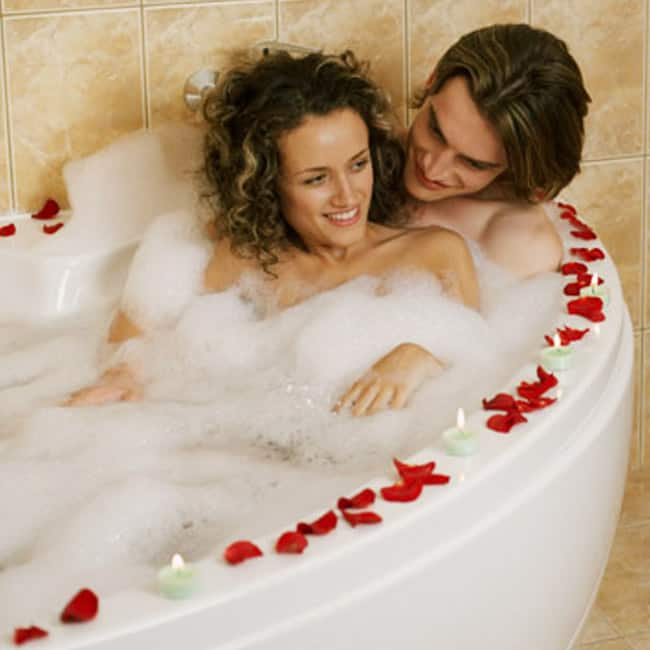 Sexy naked couples having sex in bath tub