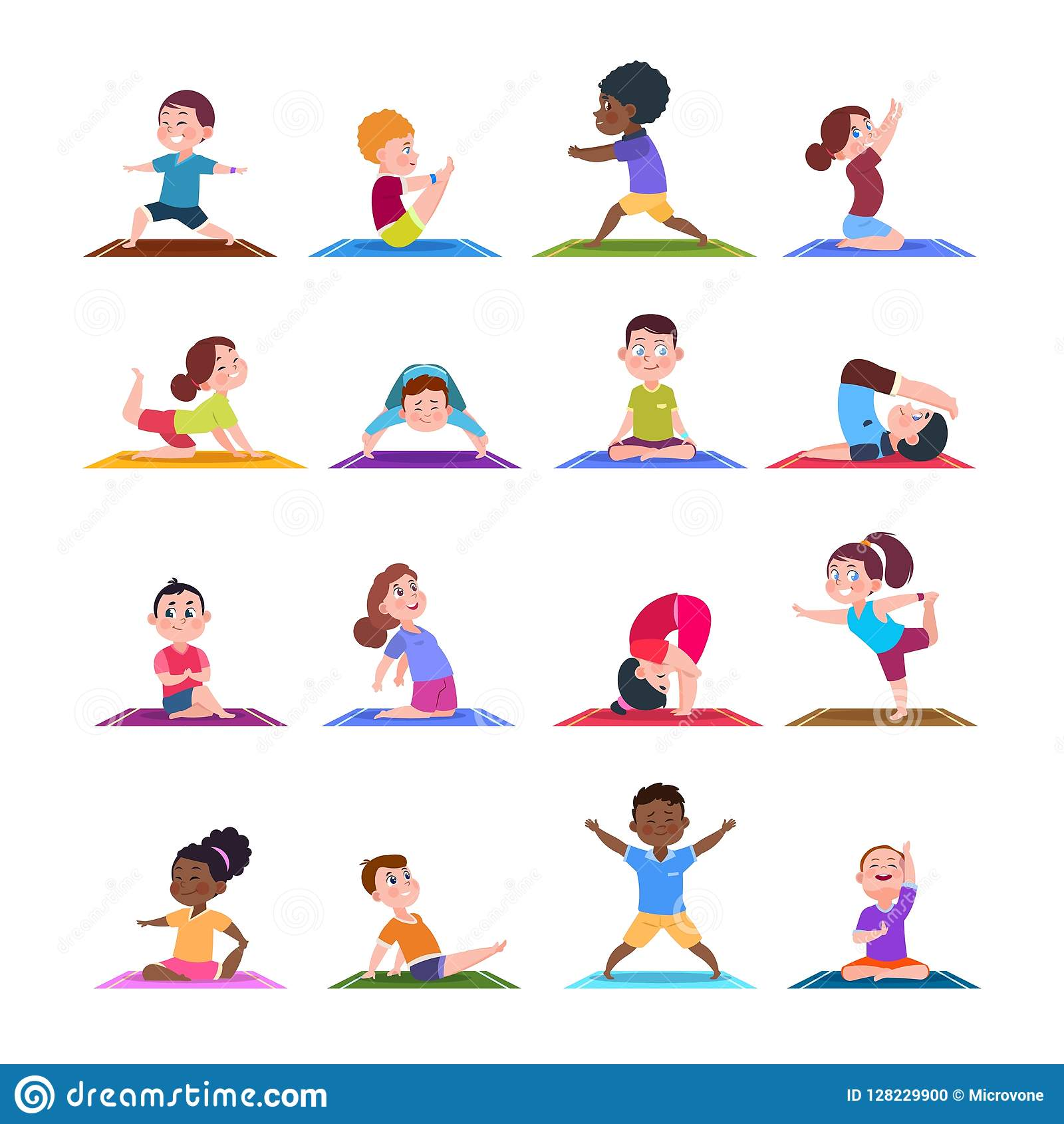 Cartoon fitness pictures