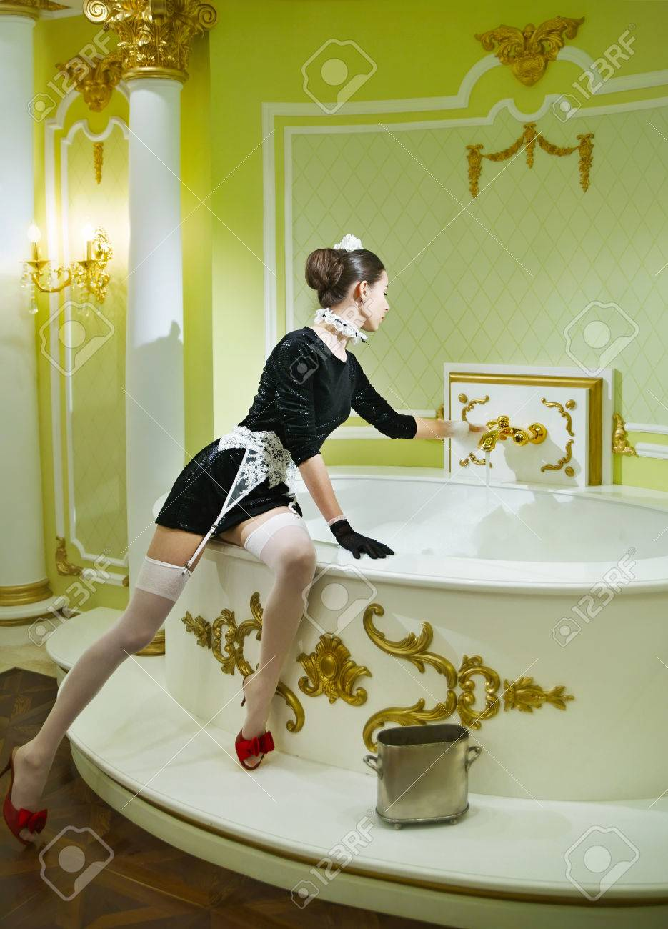 Sexy images in bathroom