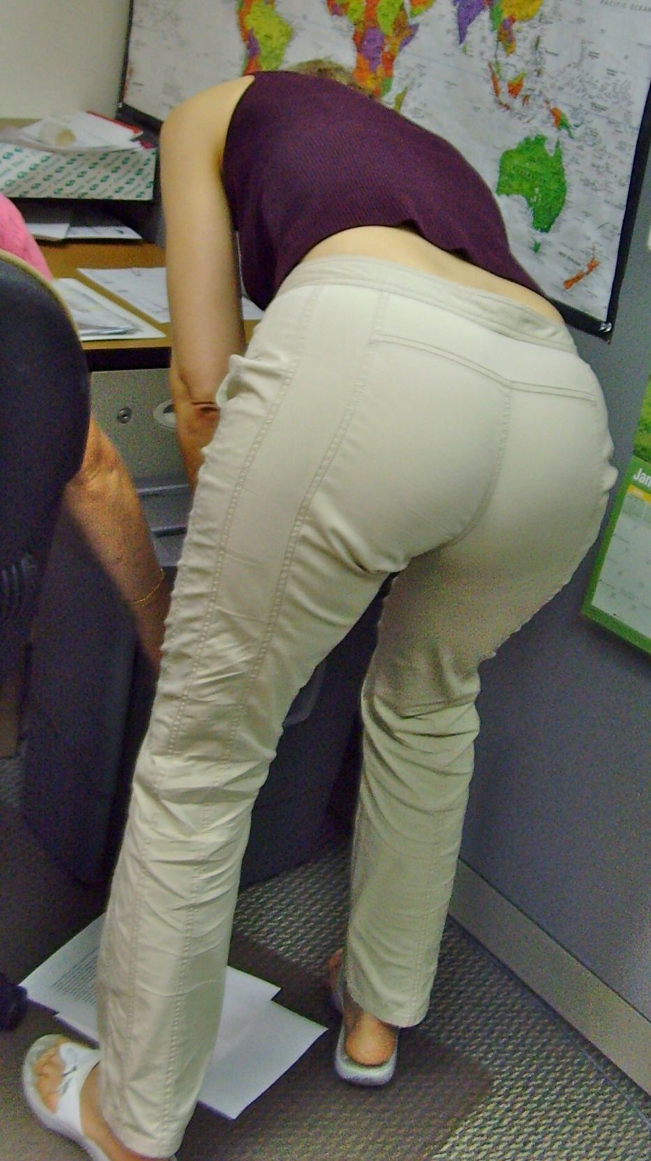 Mature women in tight pants