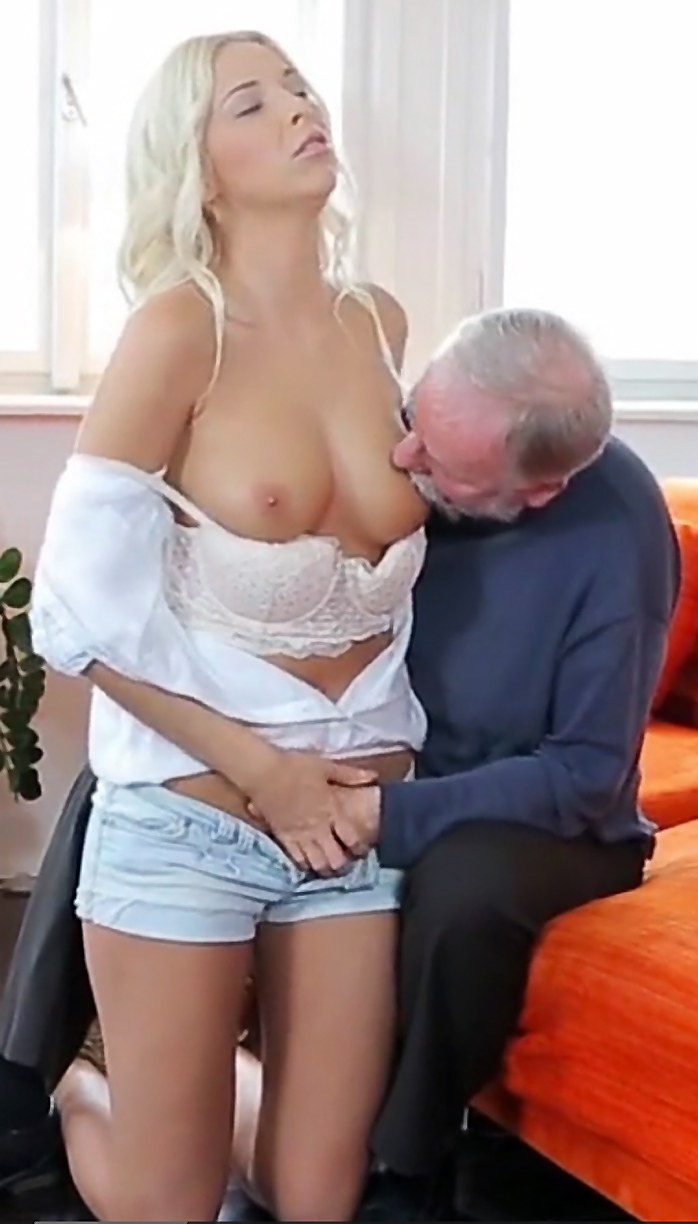 Sex with old man photo