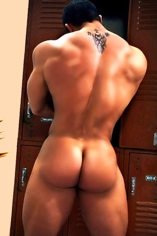Sexy naked male ass